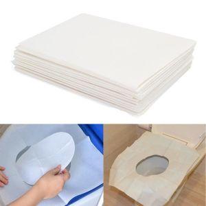 eb8ff675571005 LINGE TOILETTE JETABLE TEMPSA 10Pcs Coussin de Toilette en Papier Jetable