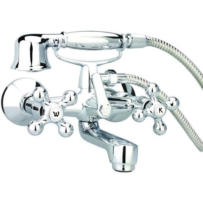 """Mécanisme de valve ½"""" - Set de douchette inclus - Raccord ½"""" pour le flexible - Mousseur approuvé LGA.ROBINETTERIE DE SALLE DE BAIN"""