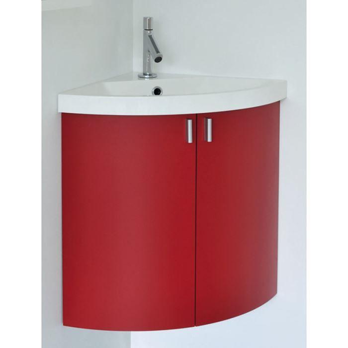 Meuble lave mains d 39 angle suspendre 2 porte achat for Salle de bain meuble angle