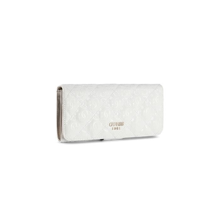 Guess Portefeuille Femme Seraphina Blanc - Achat   Vente ... 5b63bec559d