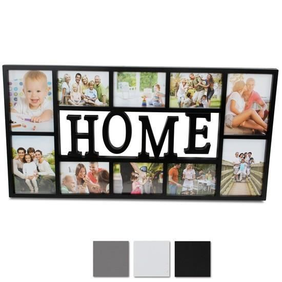 cadre photo home blanc achat vente cadre photo cdiscount. Black Bedroom Furniture Sets. Home Design Ideas