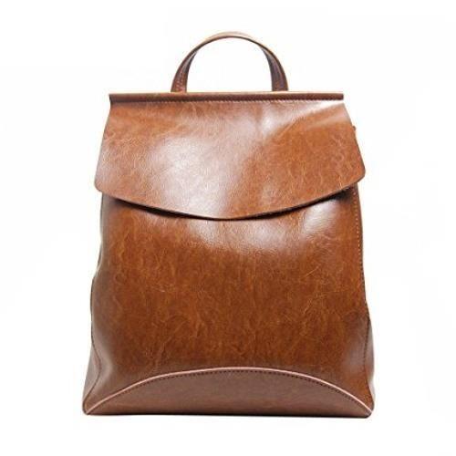 Leathario sac à dos pour femme sac cuir luxueux femme sac femme loisirs sac femme rétrotaille 28x 34 x 12cmcouleur Brun taille 28x