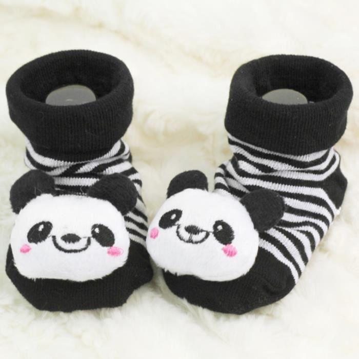 Animal Style Chaussette Anti-Glisse motif panda Cadeau Pr Enfants Nourrissons Garçon Fille