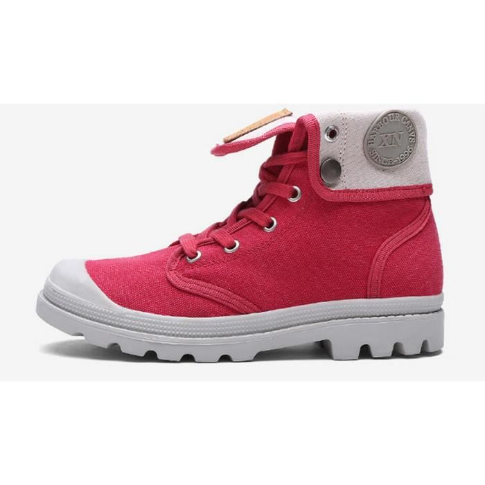 Loisirs High Top Toile Derby femmes Rouge Y62lV5