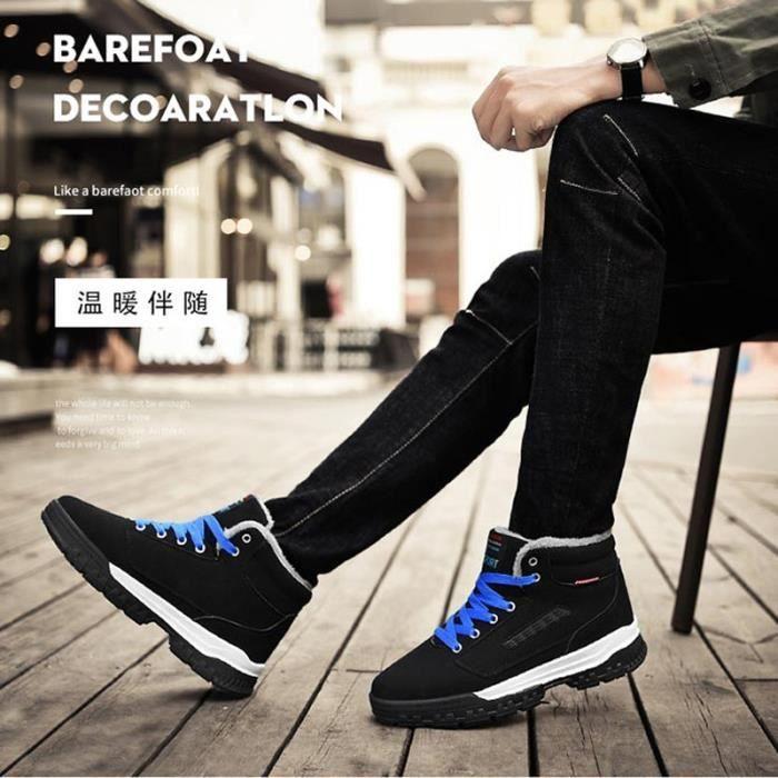 peluche Mode Casual chaud hiver de homme Chaussures taille neige Grande en 45 Bottes q7vxaH