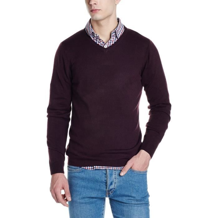 Marks Spencer Mens Sweater Ff2pv Taille Xl Marron Marron Achat