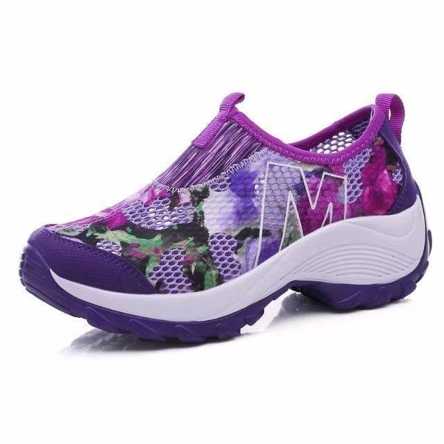 Basket Femme Run Respirante Air Creux Chaussure