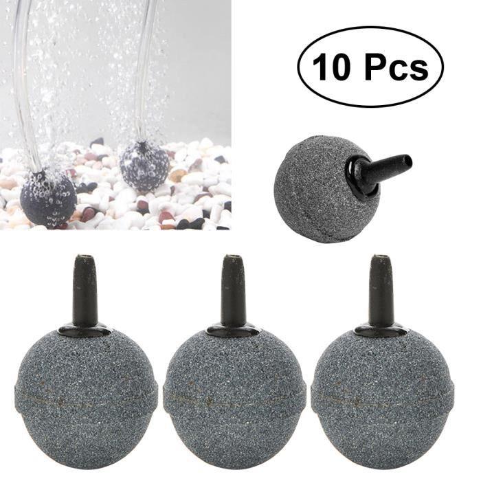 10 Packs Forme De Boule Bubble Air Pierre Minérale Diffuseur Bulleurs Pour Poissons D'aquarium Pompe Réservoir