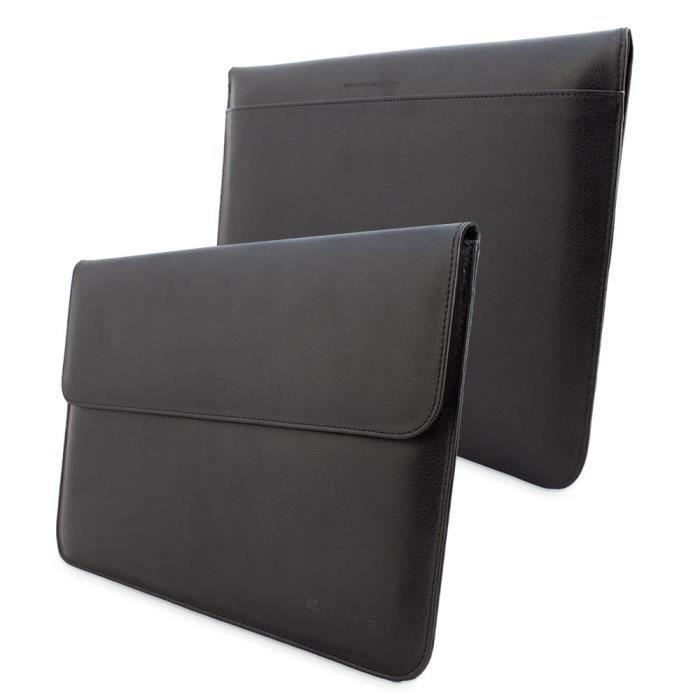 Snugg pochette en cuir noir pour macbook air 13 achat housse tui pas cher avis et - Verlicht en cuir noir ...