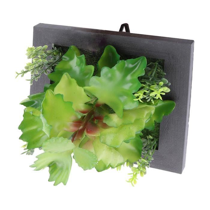 Parfait Carré Plastique Artificielle Plante Succulente Suspension Murale Cadre Décoration  Florale A17021300ux1119