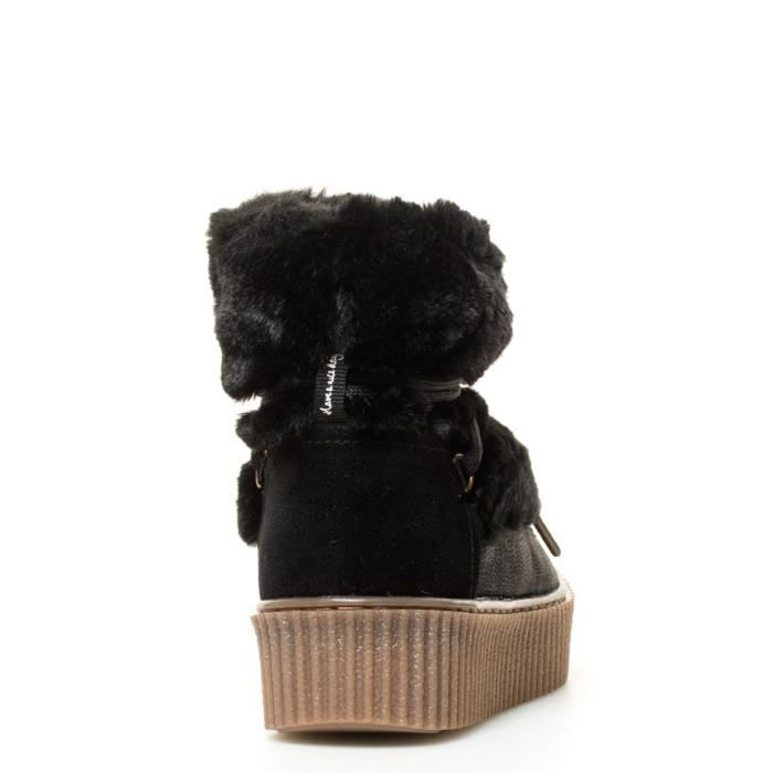 Gioseppo - Bottes noires -height soled Creeper: 4cm