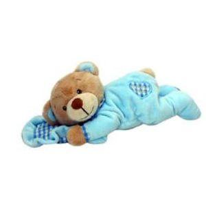 2dfc653183665 PELUCHE 1 Peluche ours pyjama oreiller 15cm - Bleu