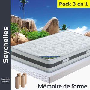 ENSEMBLE LITERIE Seychelles - Pack Matelas + AltoFlex 140x190 + Pie