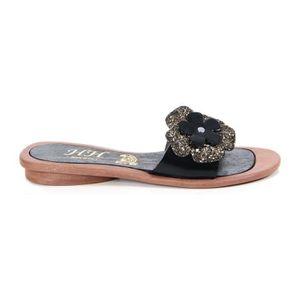 SANDALE - NU-PIEDS Sandales en cuir - noir