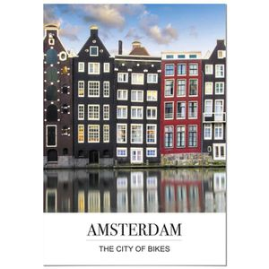 AFFICHE - POSTER Panorama® Poster Coucher du Phrase Ville d'Amsterd