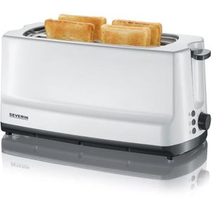 GRILLE-PAIN - TOASTER Severin - grille-pains 2 fentes 1400w gris/blanc -