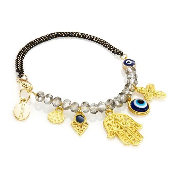 Kit bracelet Lucky charms - Kit complet pour créer 1 bracelet de 22 cm - Contient : perles en verreKIT BIJOUX