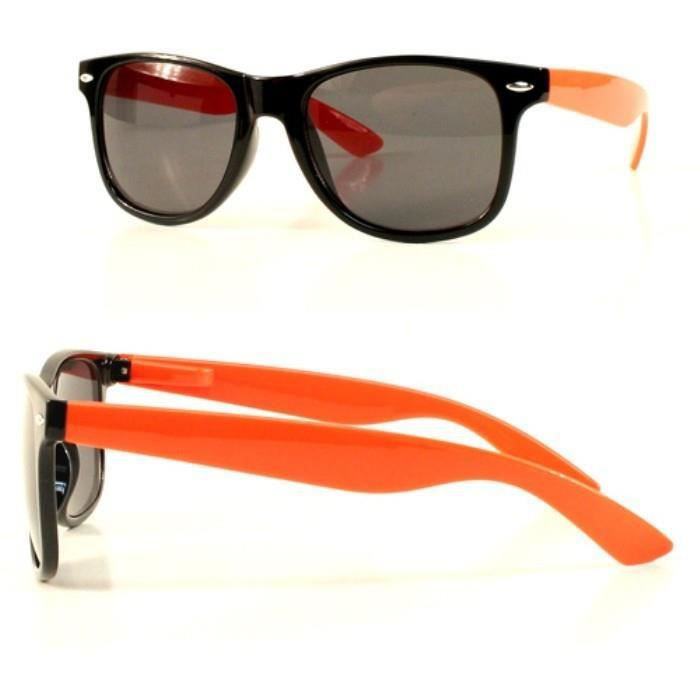 76d4469acda847 Lunette de soleil style retro noir et orange rock homme - Achat ...