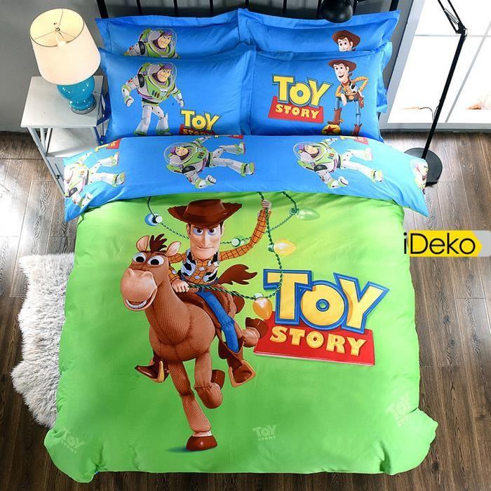 Ideko Housse De Couette Parure De Lit Toy Story Buzz Et Woody