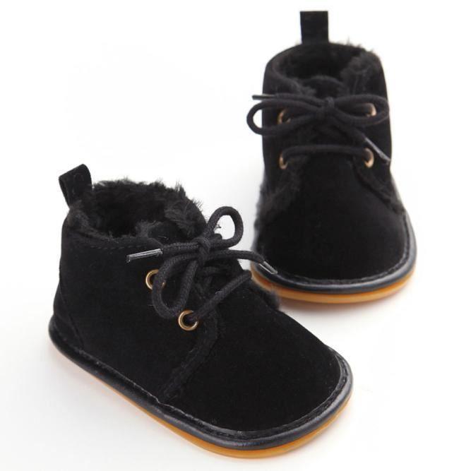 Tout Infant Bottes de neige Chaussures en caoutchouc Sole Prewalker chaussures Berceau