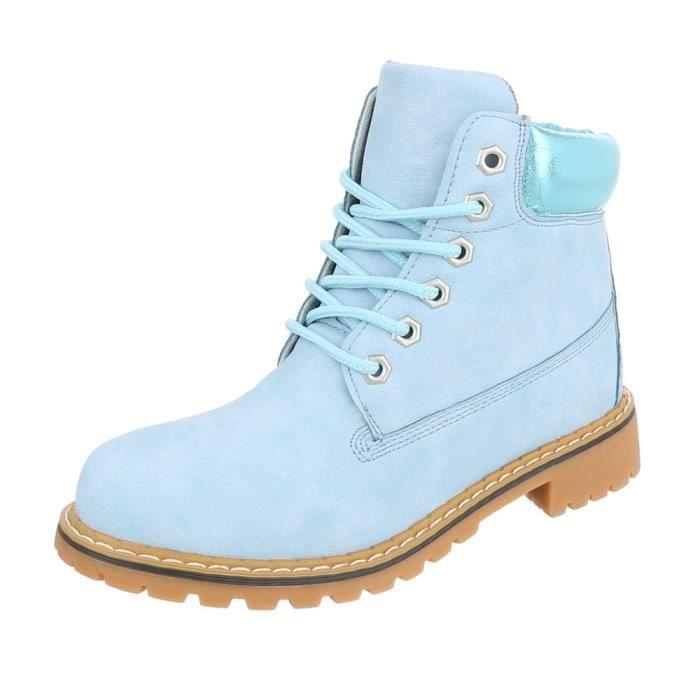 Chaussures femme bottine lacet Bottes Used Optik bleu clair 41
