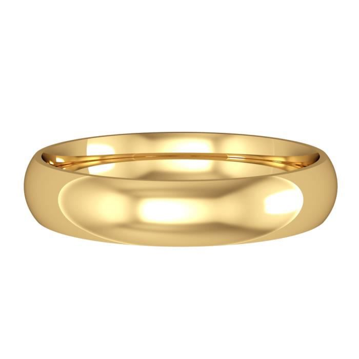 Jewelco London Or Jaune 18k mariage bague 4mm