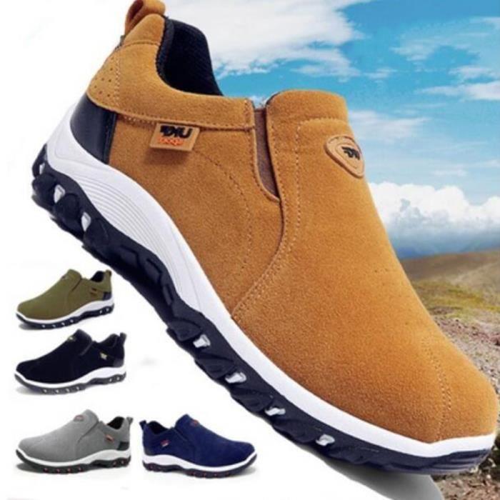 Hommes Bottes de randonnée Chaussures de sport d'extérieur étanche pour hommes, Bottes de Imperméables HOMMES Randonnée