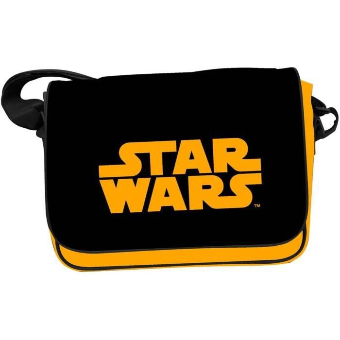 STAR WARS Sac Besace - Logo STAR WARS Orange - Noir
