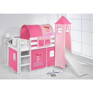 lit sureleve avec toboggan achat vente lit sureleve avec toboggan pas cher cdiscount. Black Bedroom Furniture Sets. Home Design Ideas