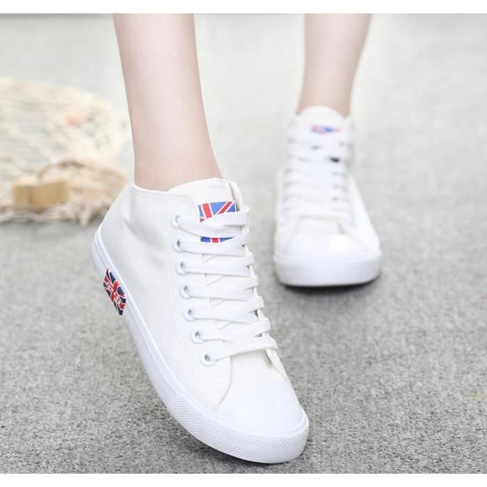 Mode Cor enne Loisirs High Top Sneakers des fem...