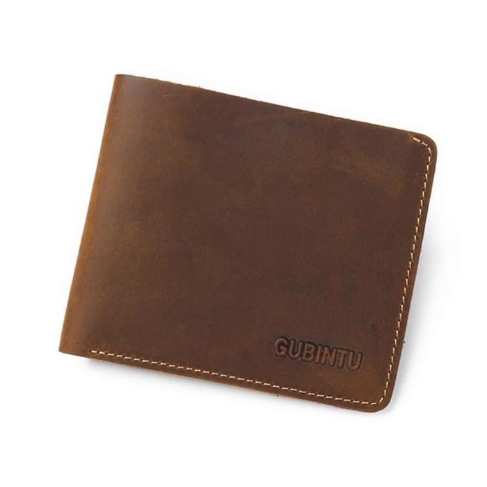 De Cuir Pour Mince qb Portefeuille Cartes Pliantes En Homme Coffee monnaie Porte 2556 xI1xdqOX