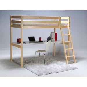lit mezzanine achat vente lit mezzanine pas cher cdiscount. Black Bedroom Furniture Sets. Home Design Ideas