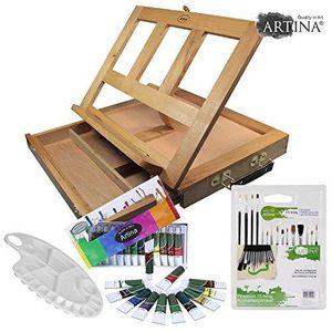 KIT PEINTURE Artina  Chevalet de table Colmar + set acrylique -