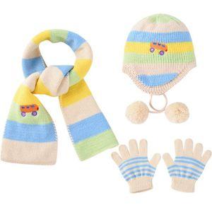 CHAPEAU - BOB Ensemble bonnet, écharpe et gants d hiver pour enf 68678164829