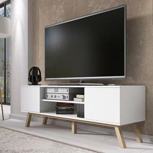 Meuble tv achat vente meuble tv pas cher cdiscount for Meuble tv qui tourne