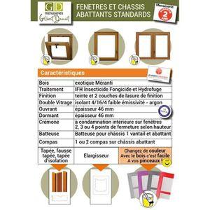 FENÊTRE - BAIE VITRÉE FENETRE EN BOIS H 60XL120