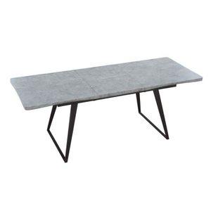 TABLE À MANGER COMPLÈTE Table repas design extensible KOLDING effet béton