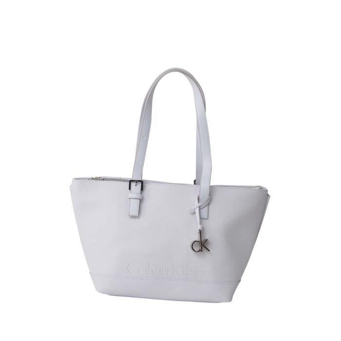 CALVIN KLEIN Sac shopping K60K601118 - MELISSA MEDIUM TOTE Blanc Femme