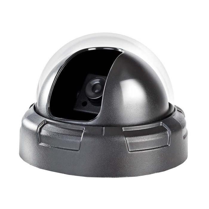 NEDIS Caméra de sécurité factice - Dôme - IP44 - Noir
