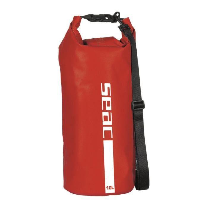 SEAC Sac étanche avec bandoulière - 10 L - Rouge
