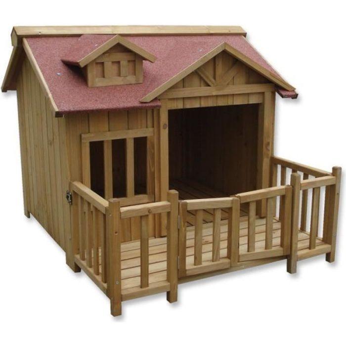 niche pour chien bois achat vente niche pour chien. Black Bedroom Furniture Sets. Home Design Ideas