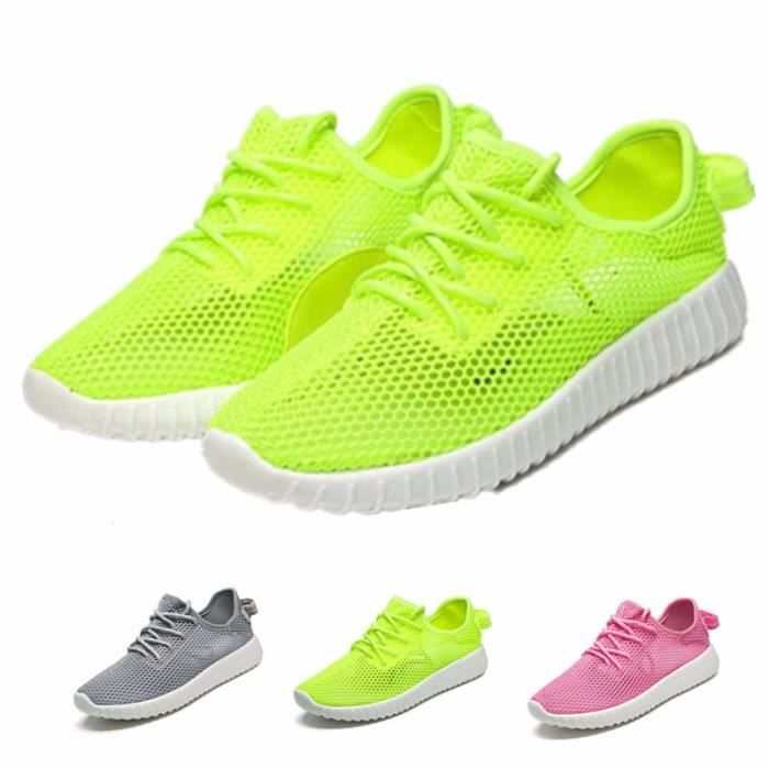 Fille Sneakers Sport Baskets Course Chaussons Chaussures Maille Lacet