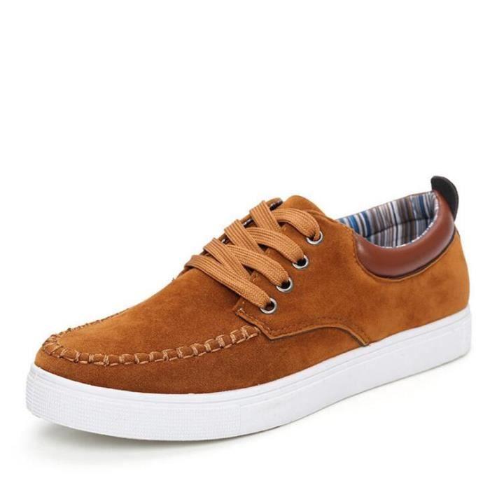 Chaussure homme 2017 ete Nouvelle arrivee Classique Nouvelle arrivee Sneaker hommes Antidérapant Marque De Luxe chaussures Orange Orange - Achat / Vente basket  - Soldes* dès le 27 juin ! Cdiscount