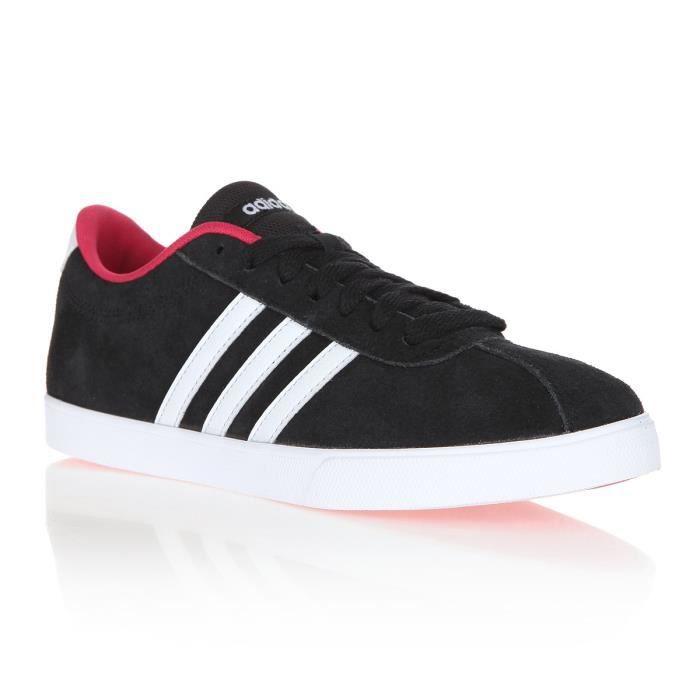 Basket Adidas Neo noires et roses T39