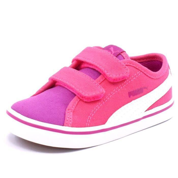 Chaussures Elsu V2 Canvas Rose Bébé Fille Puma CgzTdiX
