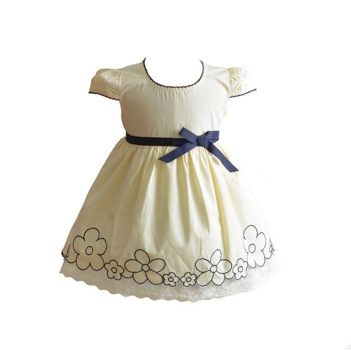 45504dc1e307a ... filles 6-9 Mois Jaune. JUPON DE MARIAGE Cinda robe de coton d été de  bébé ...
