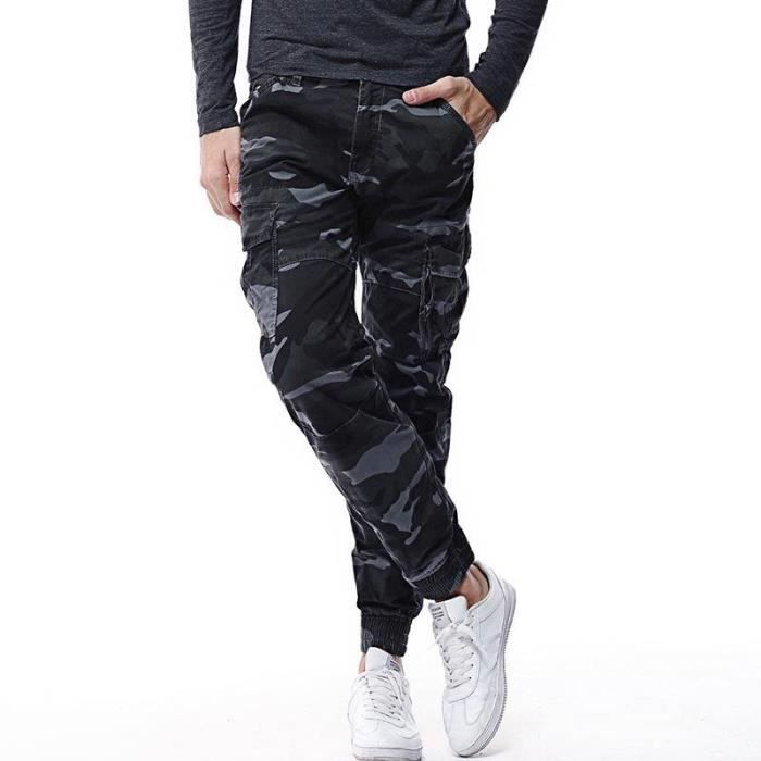 top fashion cheap price promo codes Cargo Pantalon Skinny Homme Camouflage Style Décontractée ...