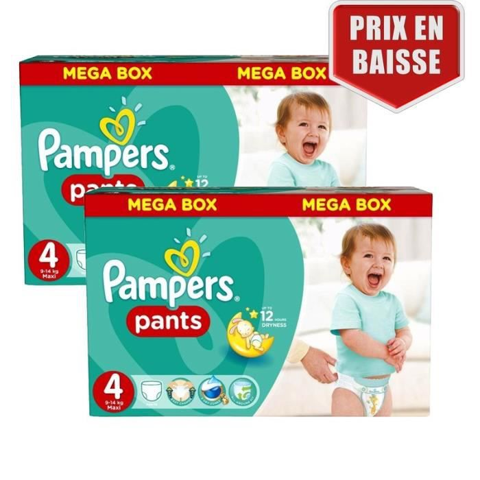 Maxi Pack 282 Couches Pampers Baby Dry Pants Taille 4 Achat