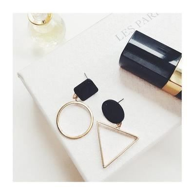 Bijoux mode 20185 boucle doreille femmes triangle de façon circulaire goujon géométrique argent
