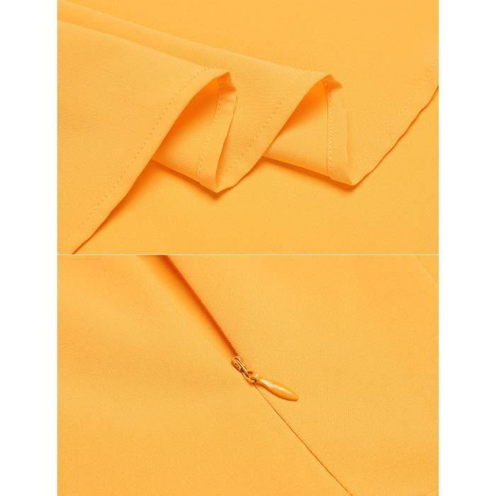 Robe plissée à encolure en V à manches courtes